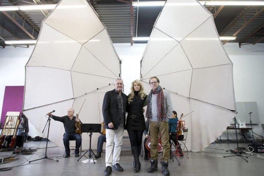 Michel Robidas, Brigitte M et Denis Bouchard.... (Photo: Robert Skinner, La Presse)