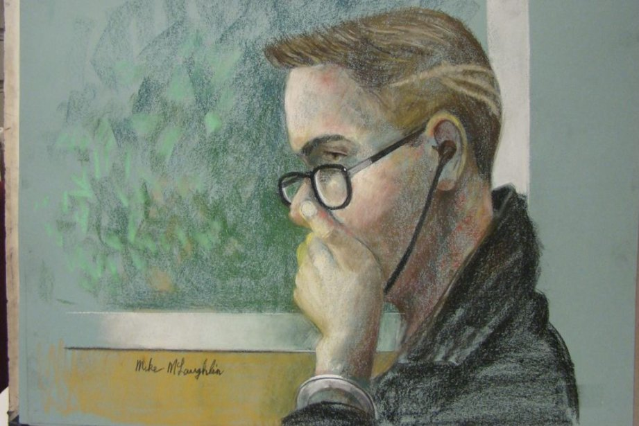 Luka Rocco Magnotta au palais de justice de... (Mike McLaughlin)