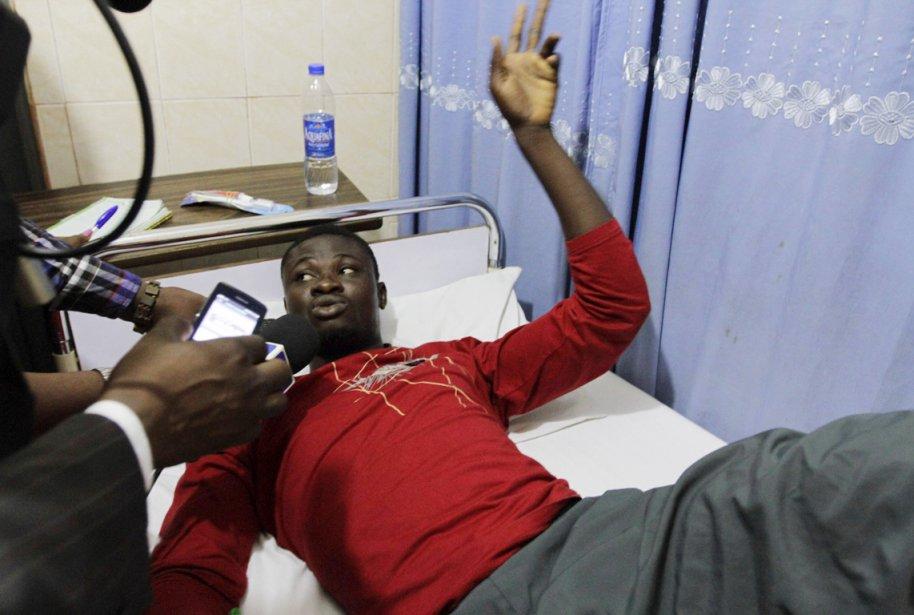 Kive Sani, qui fait partie des 29 survivants... (PHOTO AFOLABI SOTUNDE, REUTERS)