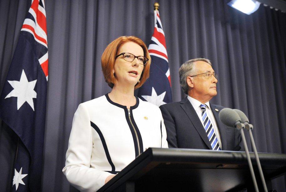 La première ministre d'Australie Julia Gillard a une... (PHOTO AFP)