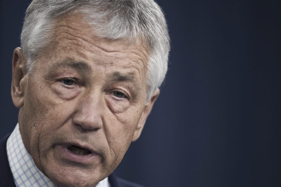 Chuck Hagel, le secrétaire à la Défense des... (PHOTO PAUL J. RICHARDS/ AFP)