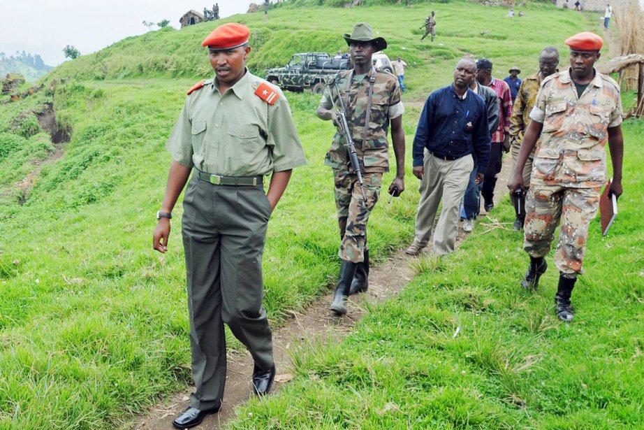 Le seigneur de la guerre Bosco Ntaganda (gauche),... (PHOTO LIONEL HEALING, ARCHIVES AFP)