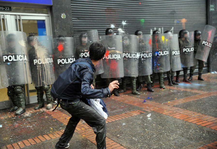 Manifestation étudiante à Bogota en Colombie | 22 mars 2013