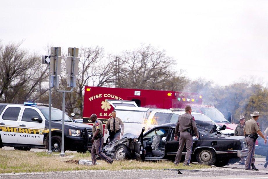 Une course-poursuite entre le véhicule et les forces... (PHOTO JIMMY ALFORD, WISE COUNTY MESSENGER/AP)
