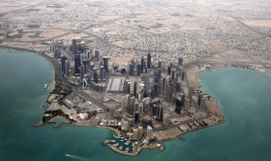 Vue aérienne du quartier diplomatique de Doha, au Qatar. | 22 mars 2013