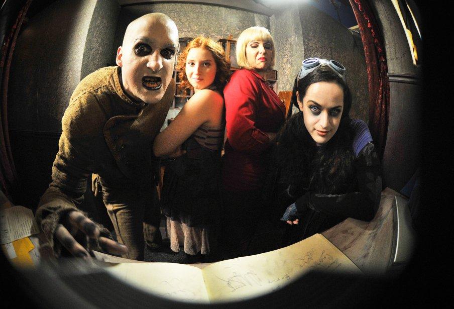 Les acteurs Vincent Poirier (Charles), Gabrielle Fontaine (Magalie), Annie Lefebvre (Colette) et  Anie Richer (Kimi) | 22 mars 2013