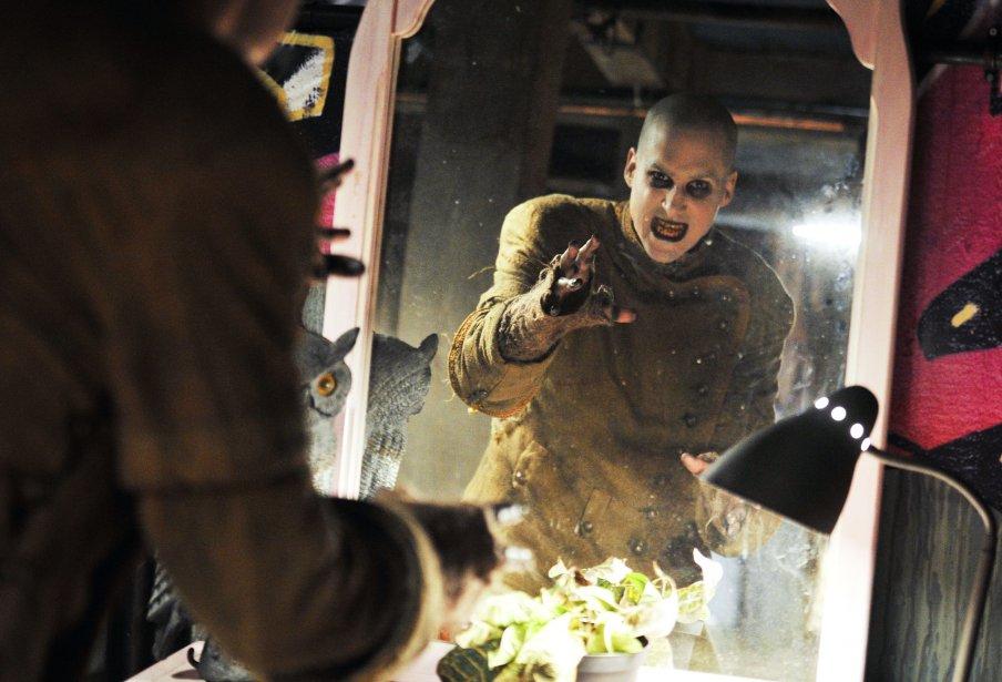 Vincent Poirier (Charles) sur le plateau de tournage de Motel Monstre | 22 mars 2013