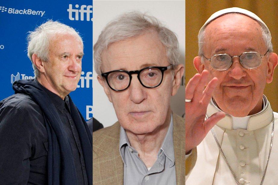Jonathan Pryce, Woody Allen et le pape François... (PHOTOMONTAGE LA PRESSE)
