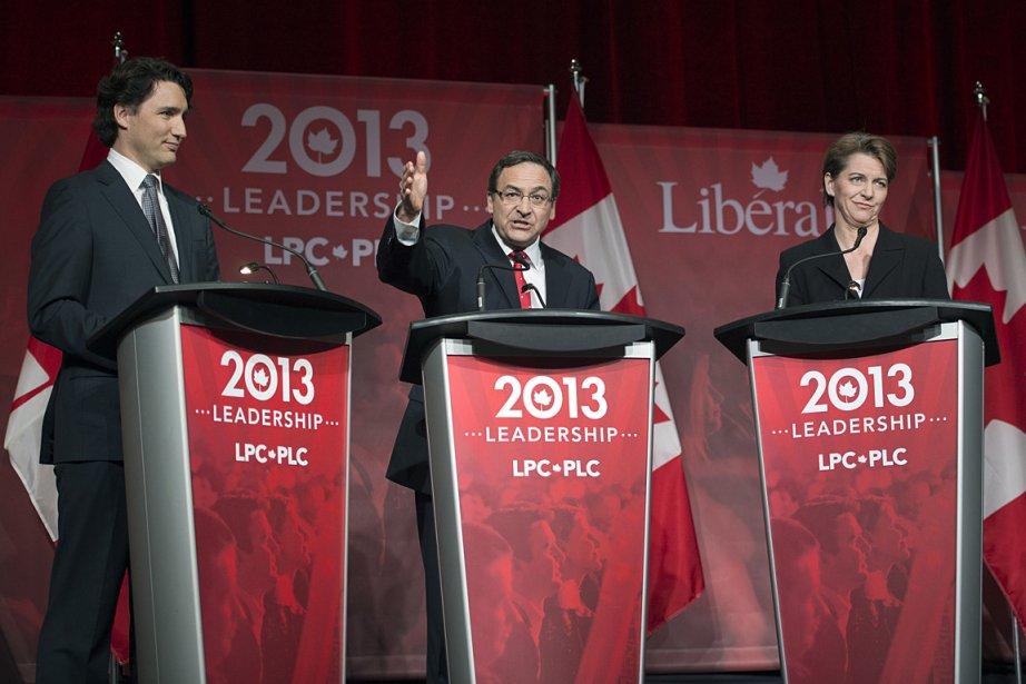 Justin Trudeau, Martin Cauchon et Martha Hall Findlay,... (Photo: PC)
