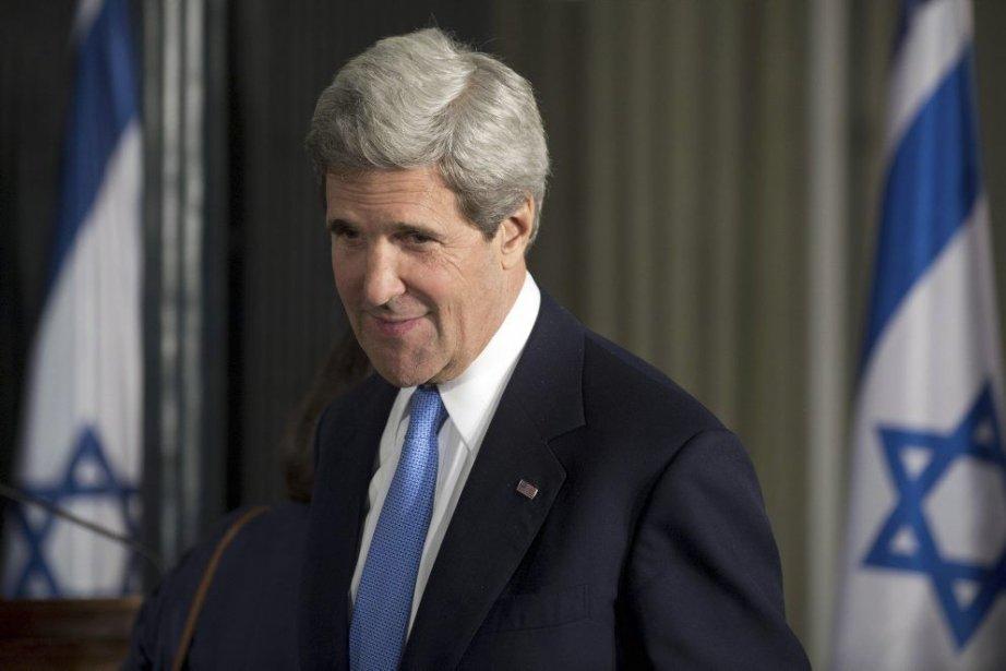 John Kerry, le Secrétaire de l'État des États-Unis.... (PHOTO SAUL LOEB / AFP)