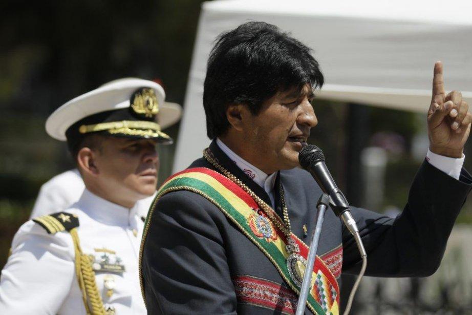 Le président bolivien Evo Morales lors d'un discours... (PHOTO DAVID MERCADO/ REUTERS)