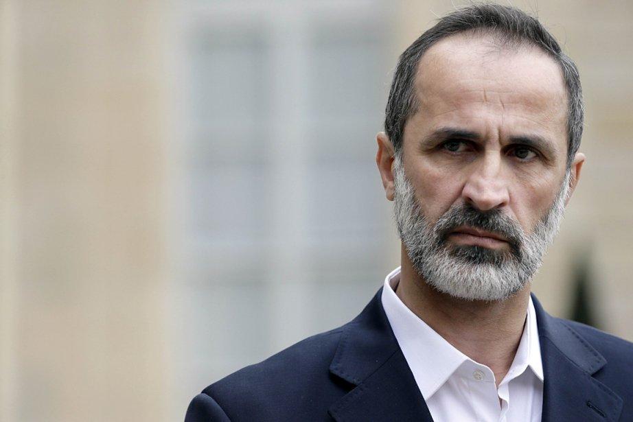 Le chef de l'opposition syrienne, Ahmed Moaz al-Khatib,... (Photo: AFP)