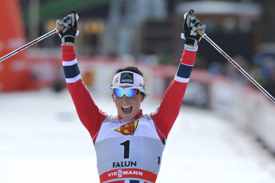 Marit Bjoergen totalise 59 victoires en carrière en... (Photo : Anders Wiklund, AFP)