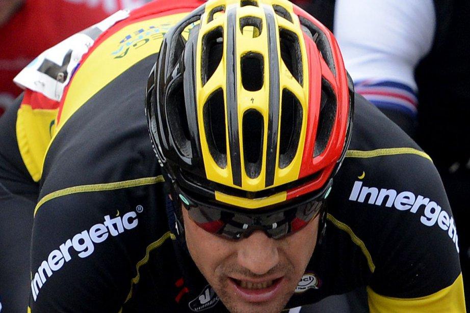 Tom Boonen, le leader de la formation Omega... (Photo : Dirk Waem, AFP)