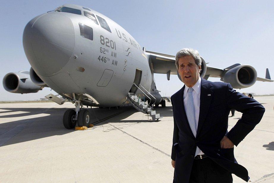 Le secrétaire d'État américain John Kerry à son... (Photo: AFP)