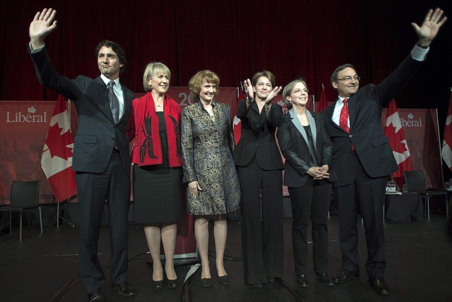 Les six candidats à la direction du PLC,... (Photo: PC)