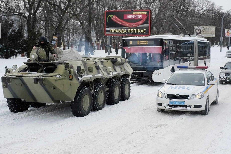 La capitale ukrainienne a connu en deux jours... (Photo: Reuters)
