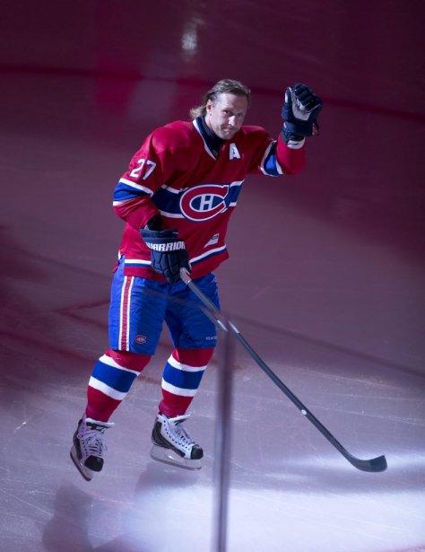 Alex Kovalev a eu la chance d'enfiler le chandail du Canadien lors de la Classique des Étoiles, dimanche au Centre Bell. | 24 mars 2013
