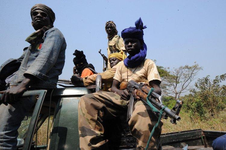 Des rebelles de la coalition du Séléka.... (Photo: AFP)