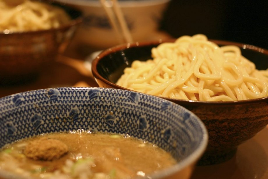 Les populaires nouilles tsukemen du restaurant Rokurinsha Tokyo. | 25 mars 2013