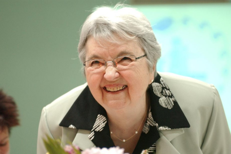 Madeleine Grenier-Laperrière a fondé Éducation-Coup-de-Fil en 1983, un... (Photo fournie par Hélène Laperrière)