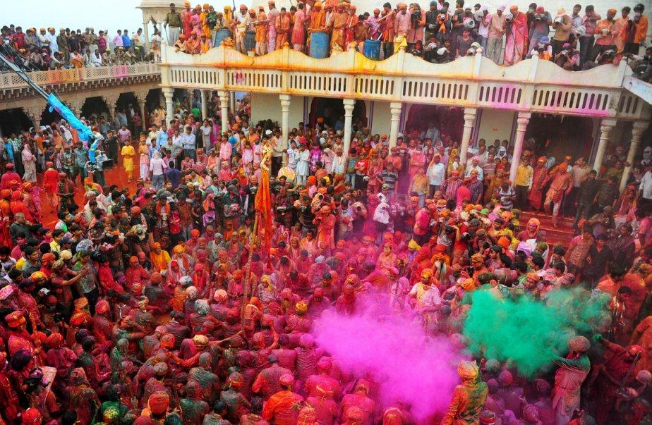 Le temple Nandji à Nandgaon, Inde | 25 mars 2013