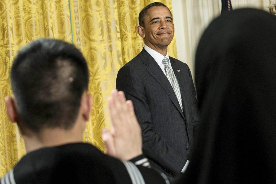 Depuis sa réélection pour un second mandat en... (PHOTO BRENDAN SMIALOWSKI, AFP)