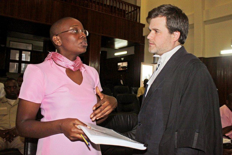 Victoire Ingabire, présidente des Forces démocratiques unifiées (FDU),... (PHOTO STEPHANIE AGLIETTI, AFP)