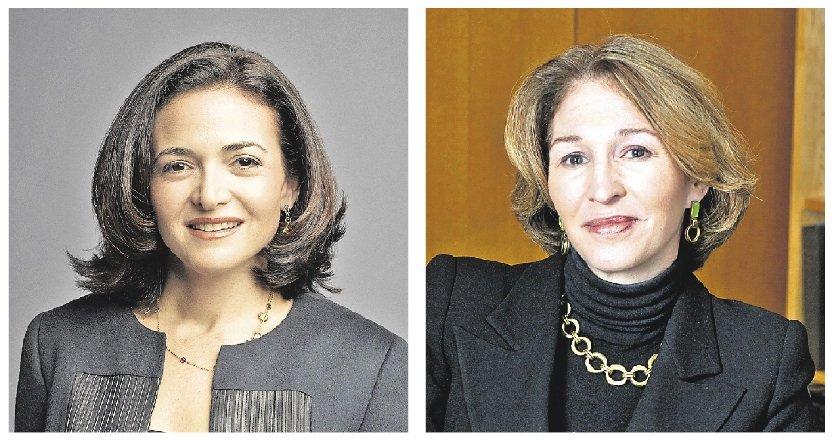 Sheryl Sandberg (à gauche) et Anne-Marie Slaughter, deux... (Photos d'archives)