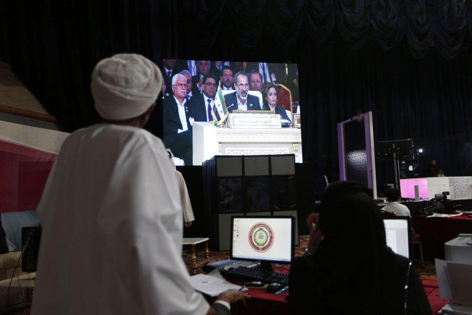 Ahmad Moaz Al-Khatibs'est livré à un plaidoyer passionné... (Photo: Reuters)
