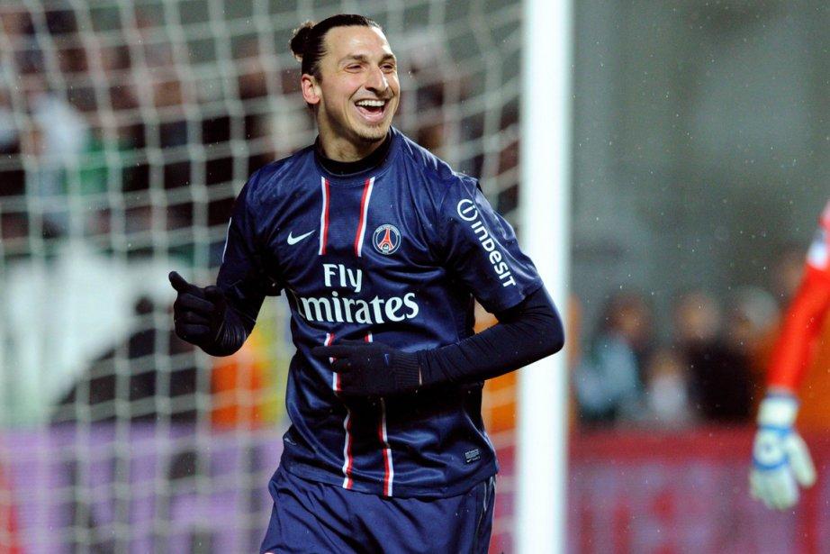 L'attaquant vedette du PSG, Zlatan Ibrahimovic.... (Photo Philippe Merle, AFP)