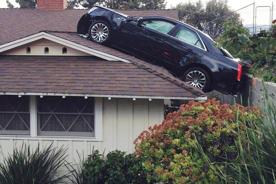 Le véhicule d'un homme du sud de la Californie s'est retrouvé sur... (Photo AP)