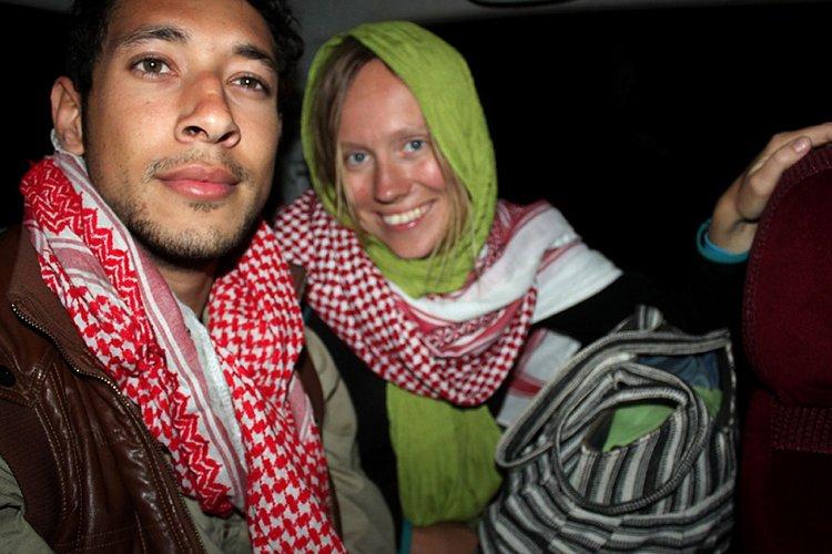 Amir Omar Hassan et la touriste norvégienne se... (Photo: AFP)