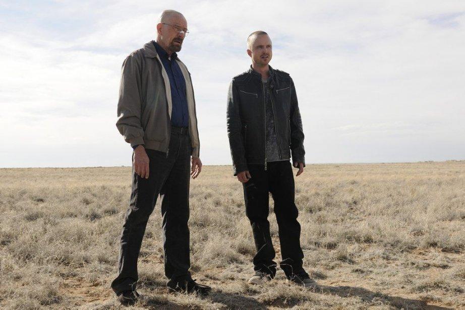 Les acteurs Bryan Cranston (à gauche) et Aaron... (PHOTO URSULA COYOTE, AP)