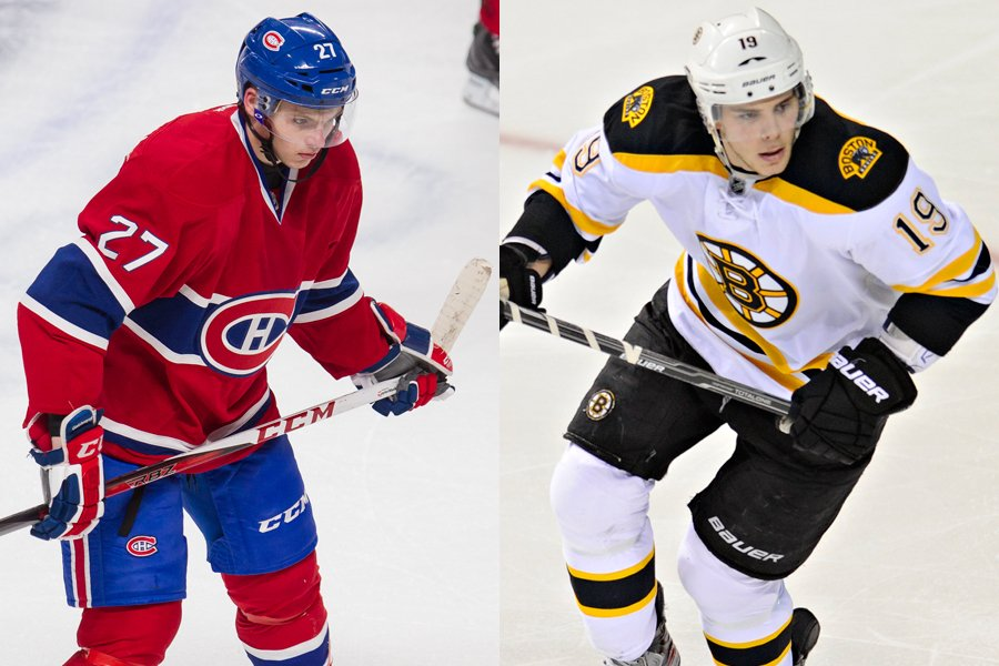 Alex Galchenyuk, du Canadien, et Tyler Seguin, des... (Photos La Presse et AP)