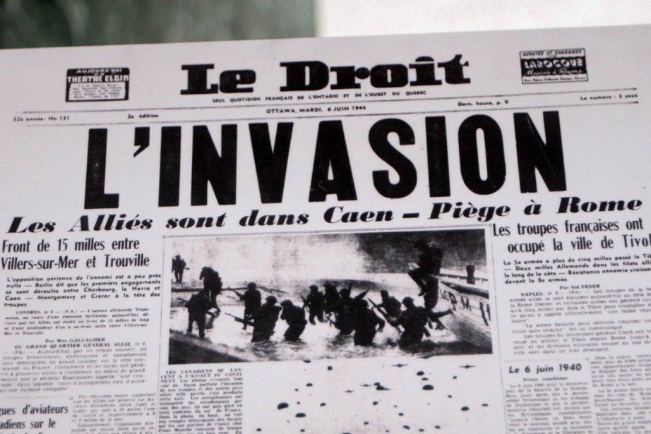 «L'Invasion», avait titré Le Droit à la une,... (Photo: Étienne Ranger, Le Droit)