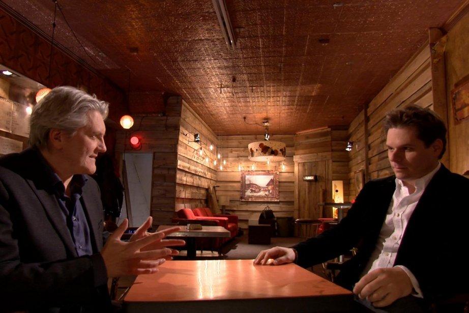 Richard Martineau interviewe Patrick Lagacé aux Francs-tireurs.... (Photo: fournie par Télé-Québec)