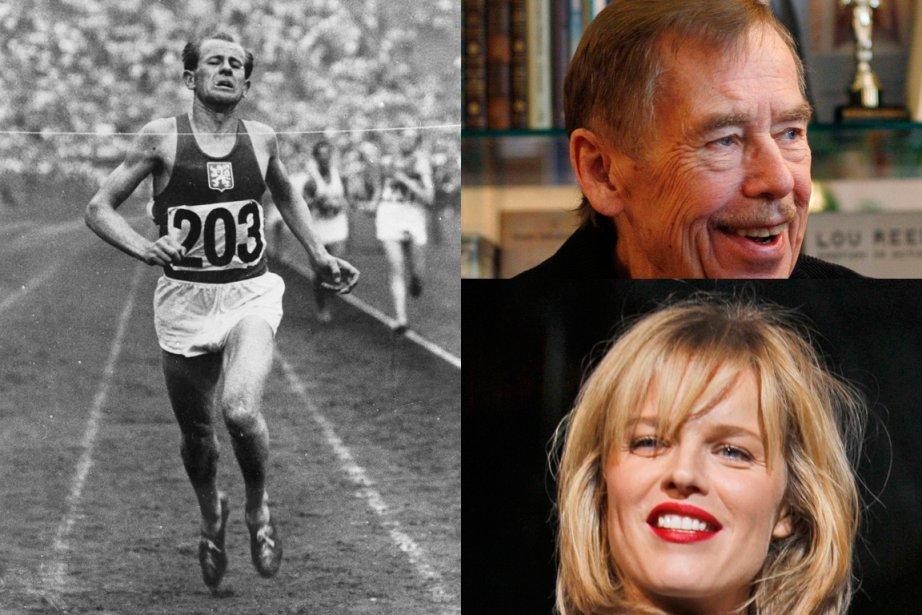 Le coureur Emil Zatopek, l'ancien président Vaclav Havel... (Photosd d'archives AP et Reuters)