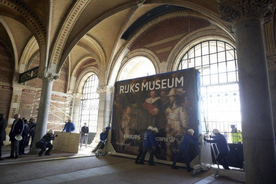 Le chef d'oeuvre de Rembrandt La ronde de... (Photo: AFP)