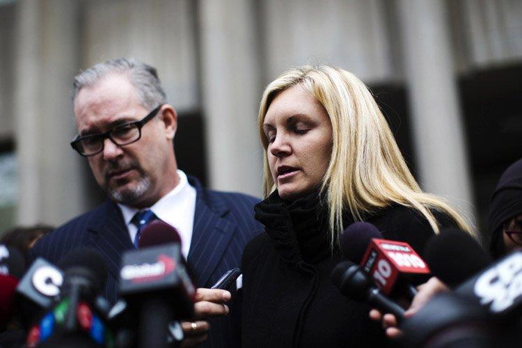 La veuve du policier Ryan Russell,Christine Russell, s'est... (Photo: Reuters)