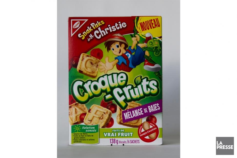 Les biscuits Croque-fruits au mélange de baies.... (Photo Olivier Jean, La Presse)