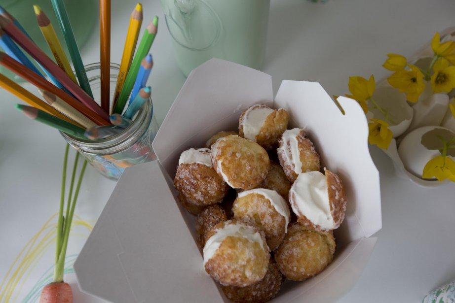 Panier de chouquettes farcies de crème. (Photo Alain Roberge, La Presse)