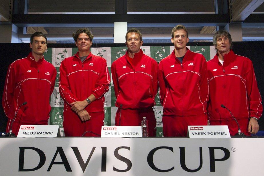 Les membres de l'équipe canadienne de Coupe Davis... (Photo Ben Nelms, Reuters)