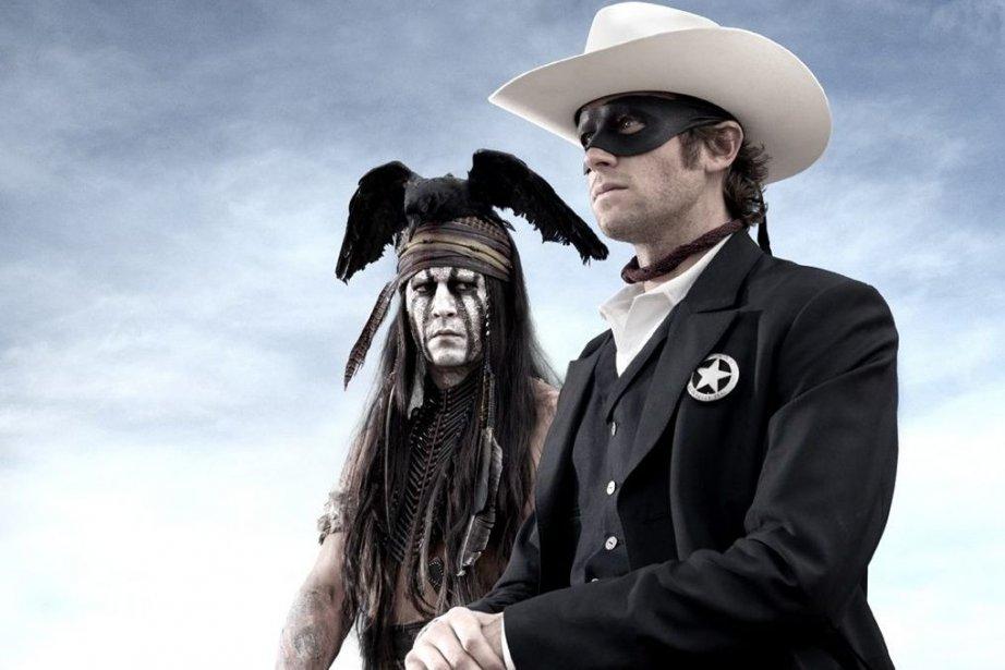 Johnny Depp et Armie Hammer dans The Lone... (Photo: fournie par Disney)