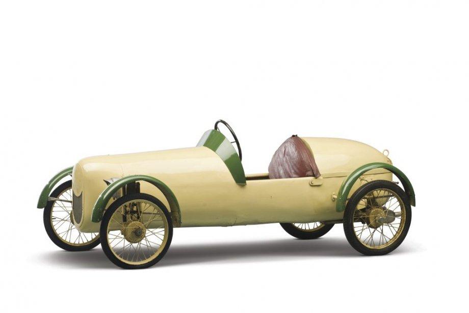 On dirait un jouet d'enfant, cette magnifique Cuno Bistram 1954 aux allures de monoplace de course avec moteur de 6,7 chevaux (19550$). (Photo fournie par RM Auctions)