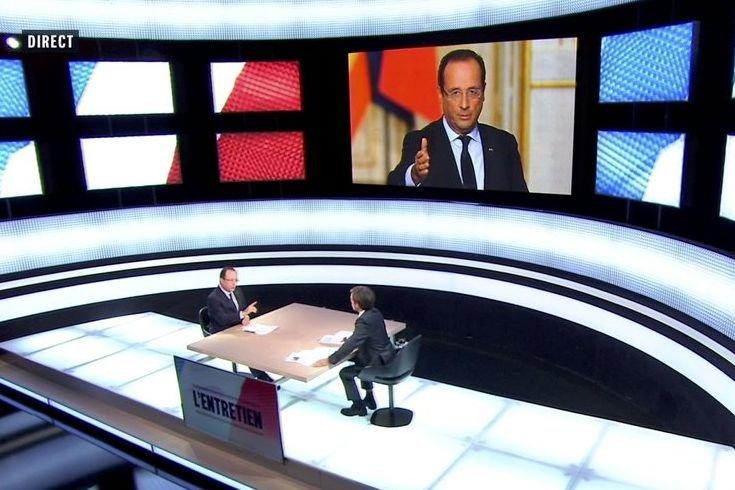 Le président François Hollande a dû répondre aux... (Photo France 2 / Reuters)