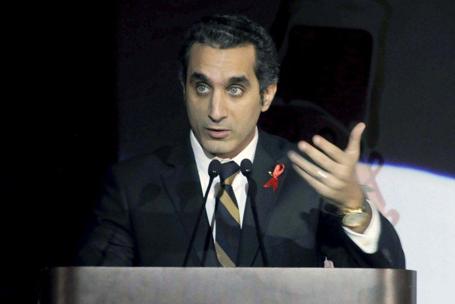 La très populaire émission de l'humoriste Bassem Youssef... (Photo : Ahmed Omar, archives AP)