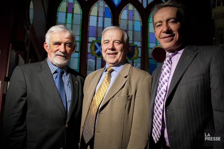 Alain Lemaire (au centre), président et chef de... (Photo André Pichette, archives La Presse)