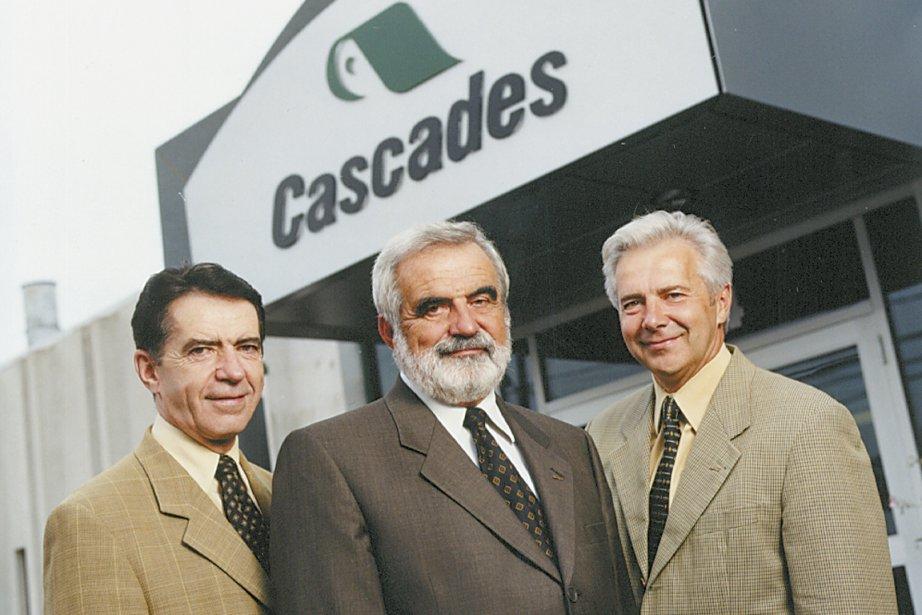 Laurent, Bernard et Alain Lemaire, en 2002.... (Photo fournie par Cascades)