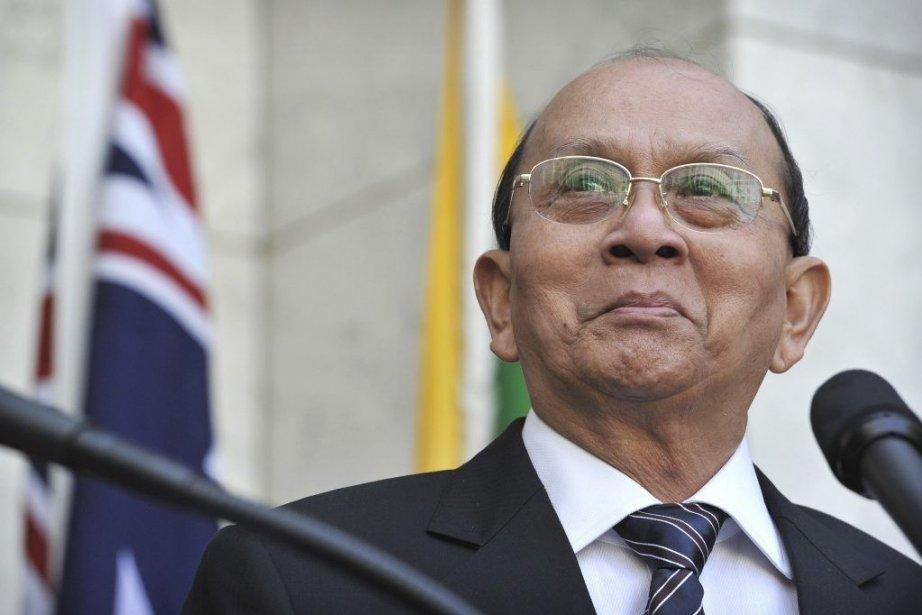 Le président de la Birmanie, Thein Sein.... (PHOTO MARK GRAHAM/ AFP)